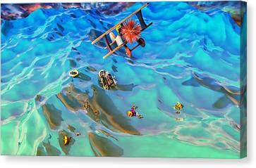 The Rescue Canvas Print by Adam Vance
