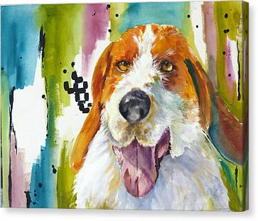 The Rescue Me Dog Canvas Print by P Maure Bausch