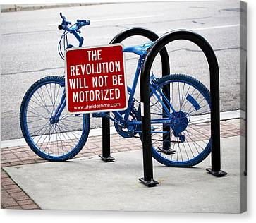 The Revolution Will Not Be Motorized Canvas Print by Rona Black