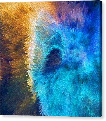 The Right Direction - Abstract Art By Sharon Cummings Canvas Print by Sharon Cummings