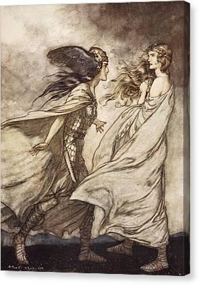 The Ring Upon Thy Hand - ..ah Canvas Print by Arthur Rackham