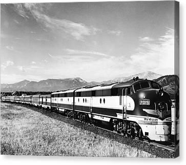 The Rio Grande Colorado Eagle Canvas Print by Underwood Archives