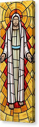 The Risen Christ Canvas Print by Gilroy Stained Glass