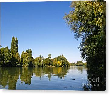 The River Oise Canvas Print by Alex Cassels