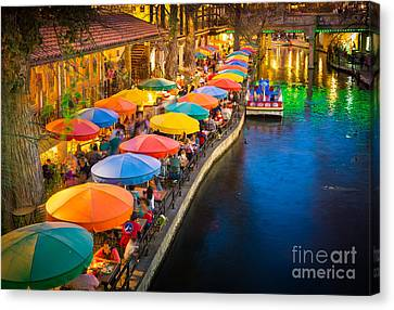The Riverwalk Canvas Print by Inge Johnsson