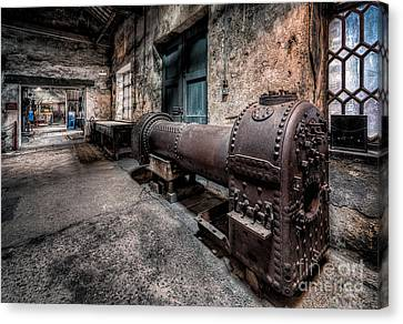 The Riveted Boiler Canvas Print by Adrian Evans