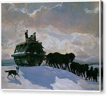 The Road Roller Canvas Print by Rockwell Kent