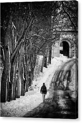 The Road Canvas Print by Stelios Kleanthous