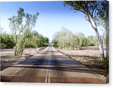 The Road To Back Of Beyond Canvas Print by Holly Kempe