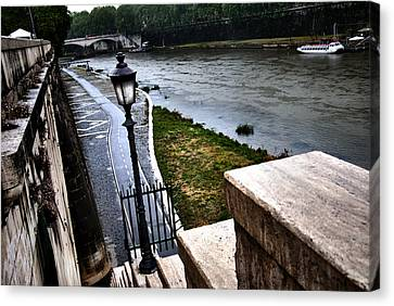 The Road To Tevere Canvas Print by Francesco Zappala