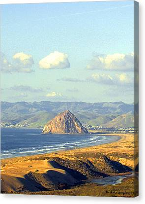 The Rock At Morro Bay Canvas Print by Barbara Snyder