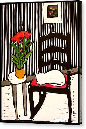 The Rocking Chair Canvas Print by Mary Mosblech