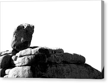 The Rocks Of Contrast Canvas Print by Carolina Liechtenstein