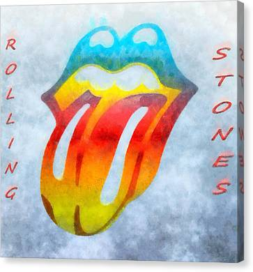 The Rolling Stones Canvas Print by Dan Sproul