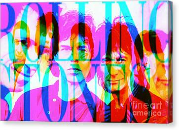 The Rolling Stones Canvas Print by Elizabeth McTaggart