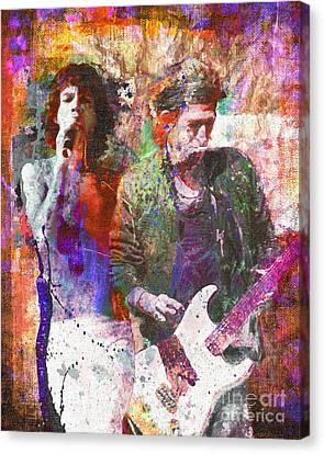 The Rolling Stones Original Painting Print  Canvas Print by Ryan Rock Artist