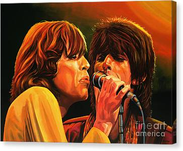 The Rolling Stones Canvas Print by Paul Meijering