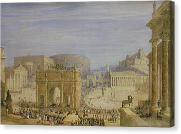 The Roman Forum Canvas Print by Francis Vyvyan Jago Arundale