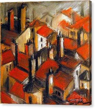 The Roofs Of Lyon Canvas Print by Mona Edulesco