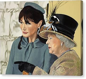 The Royal Burger Canvas Print by Marcella Lassen