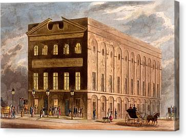 The Royal Couborg Theatre, 1826 Canvas Print by Daniel Havell