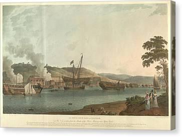 The Royal Dockyard At Chatham Canvas Print by British Library