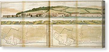 The Royal Dockyard Canvas Print by British Library
