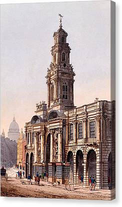 The Royal Exchange, 1816 Canvas Print by Rudolph Ackerman