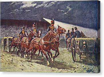 The Royal Horse Artillery Drive Canvas Print by William Barnes Wollen