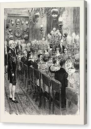 The Royal Marriage At Berlin, Germany Banquet At The Royal Canvas Print by German School