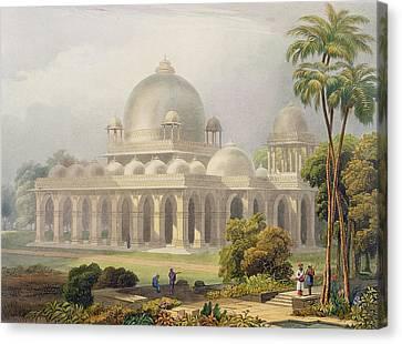 The Roza At Mehmoodabad In Guzerat, Or Canvas Print by Captain Robert M. Grindlay