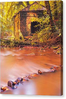 The Ruins Of An Old Mill Canvas Print by Maciej Markiewicz