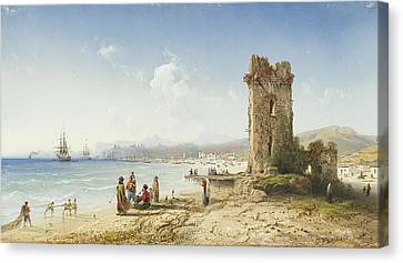 The Ruins Of Chersonesus Crimea Canvas Print by Celestial Images