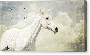 The Runner Canvas Print by Karen Slagle
