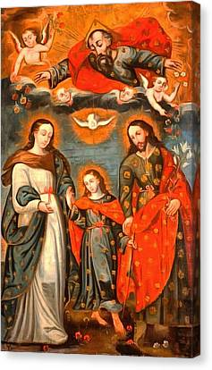 The Sacred Family Canvas Print by Unknown