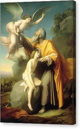The Sacrifice Of Isaac Canvas Print by Santiago Rebull