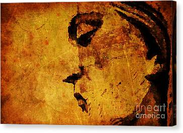 The Sadness In Humanity Canvas Print by Mike Grubb
