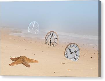 The Sands Of Time Canvas Print by Gill Billington