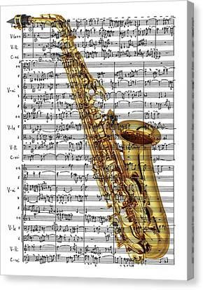 The Saxophone Canvas Print by Ron Davidson