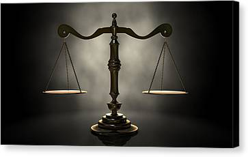 The Scales Of Justice Canvas Print by Allan Swart