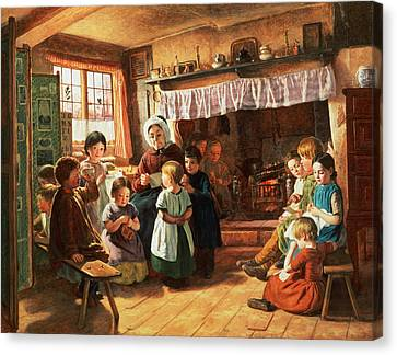 The School Room Canvas Print by Alfred Rankley