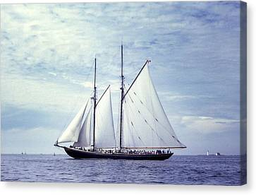 The Schooner Bluenose 2 Again Canvas Print by George Cousins
