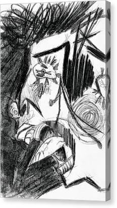The Scream - Picasso Study Canvas Print by Michelle Calkins