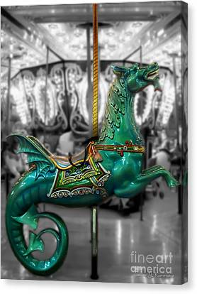 The Sea Dragon - Carousel Canvas Print by Colleen Kammerer