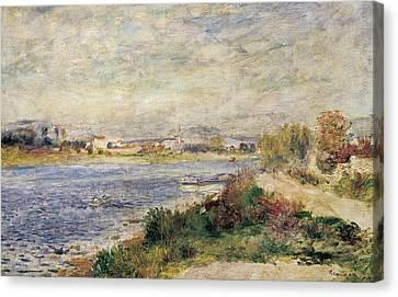 The Seine In Argenteuil Canvas Print by Pierre-Auguste Renoir
