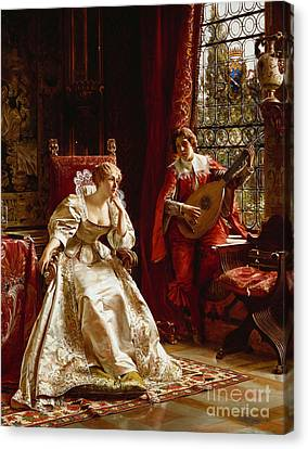 The Serenade Canvas Print by Joseph Frederick Charles Soulacroix