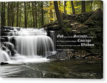 The Serenity Prayer Canvas Print by Christina Rollo