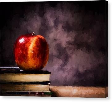 The Serious Student Canvas Print by Georgiana Romanovna