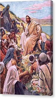 The Sermon On The Mount Canvas Print by Harold Copping