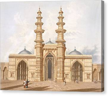 The Shaking Minarets Of Ahmedabad Canvas Print by Captain Robert M. Grindlay